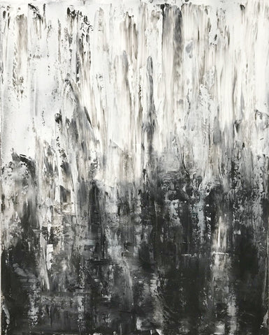 "Abstract Canvas Painting, Handmade Acrylic Painting - ""White n Black""-Wall art-Belle Fierté"