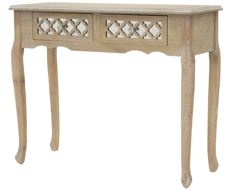 MIGUEL- Wooden Glass Console Table, Shabby Chic Console Table-Console table-Belle Fierté