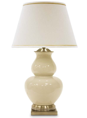 Manuel - Glamour Beige Table Lamp 75 cm-Table Lamp-Belle Fierté