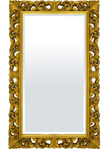 Emiliano - XL Gold Frame Mirror-Mirrors-Belle Fierté