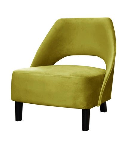 Kayden - Elegant Velvet Armchair, Curved Occasional Chair-Armchair-Belle Fierté
