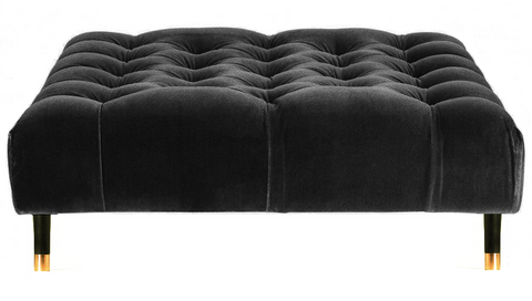 Sophie - Chesterfield Velvet Ottoman, Upholstered Coffee Table-Benches & Ottomans-Belle Fierté
