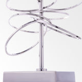 JACOPO II- Luxury Table Lamp, Black Shade Silver Finish Glamour Table Lamp-Table Lamp-Belle Fierté