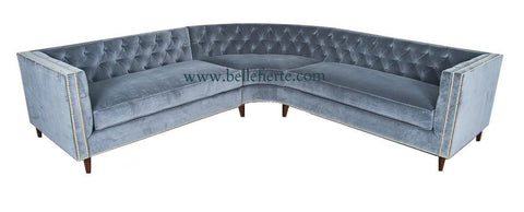 Cosenza - Contemporary Chesterfield Velvet Corner Sofa-Sofa-Belle Fierté