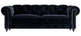 Ivy -3 Seater Chesterfield Velvet Sofa-Sofa-Belle Fierté