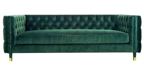 Acerra - Modern Chesterfield Velvet Sofa (230cm) - Green-Sofa-Belle Fierté
