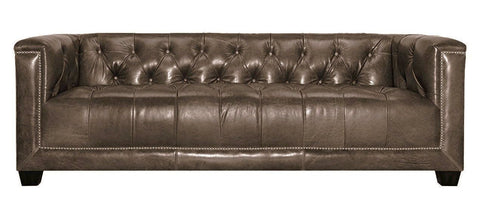 Cambridge - Modern 3 Seater Genuine Leather Chesterfield Sofa-Sofa-Belle Fierté