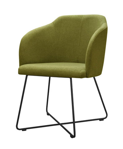 Agathe - Contemporary Metal Base Dining Chair-Chair-Belle Fierté