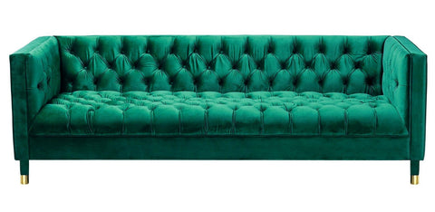 Asti - 3 Seater Contemporary Chesterfield Velvet Sofa-Sofa-Belle Fierté