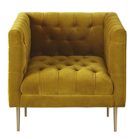 Perry - Chesterfield Modern Velvet Armchair-Armchair-Belle Fierté