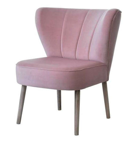 Andy - Accent Velvet Chair, Cocktail Retro Occasional Chair-Chair-Belle Fierté