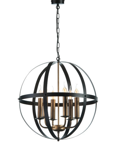 ULYSSE - 6 Light Rustic Farmhouse Oval Pendant Light-Ceiling Lamp-Belle Fierté