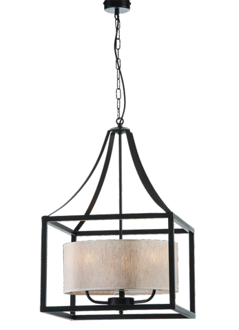 Antonia - Rustic 3 Light Farmhouse Ceiling Lamp-Ceiling Lamp-Belle Fierté