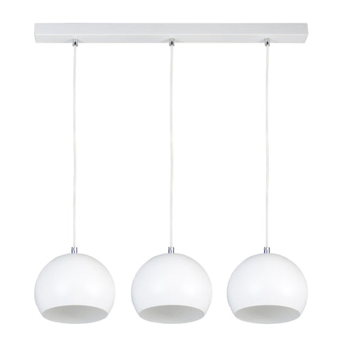Triple White Kitchen Suspension Light-Ceiling Lamp-Belle Fierté