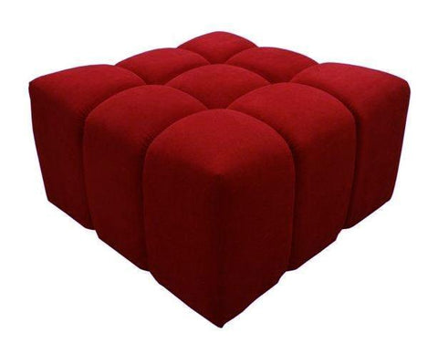 Upholstered Coffee Table, Square Ottoman, Velvet Pouffe-Benches & Ottomans-Belle Fierté
