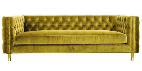 Acerra - 3 Seater Contemporary Chesterfield Velvet Sofa-Sofa-Belle Fierté