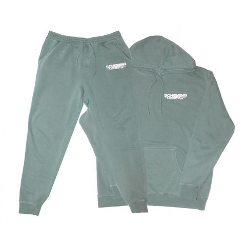 Pigment Dyed Fleece Tracksuit - Scheming Co.