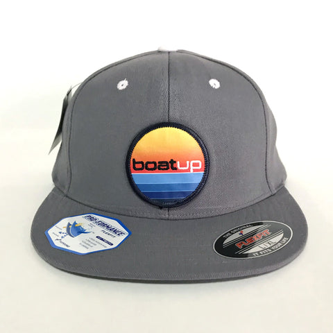 Baseball Style Fitted Patch Hat - (L/XL) Gray