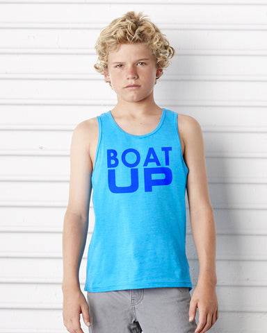 Kid's Neon Blue Tank Top