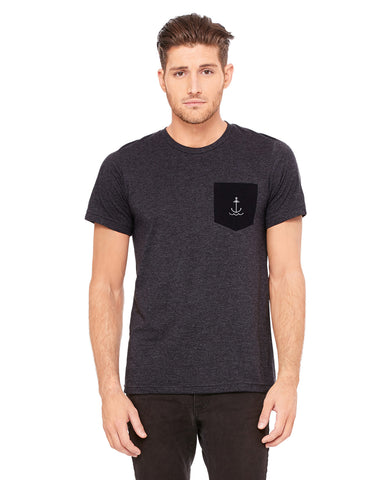 Men's Anchor Pocket T Shirt - Gray