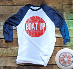 Boat Up Sunset 3/4-Sleeve T Shirt