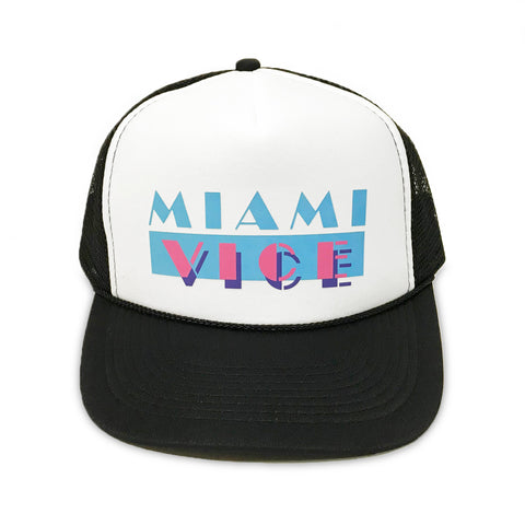Miami Vice Trucker Hat - Black