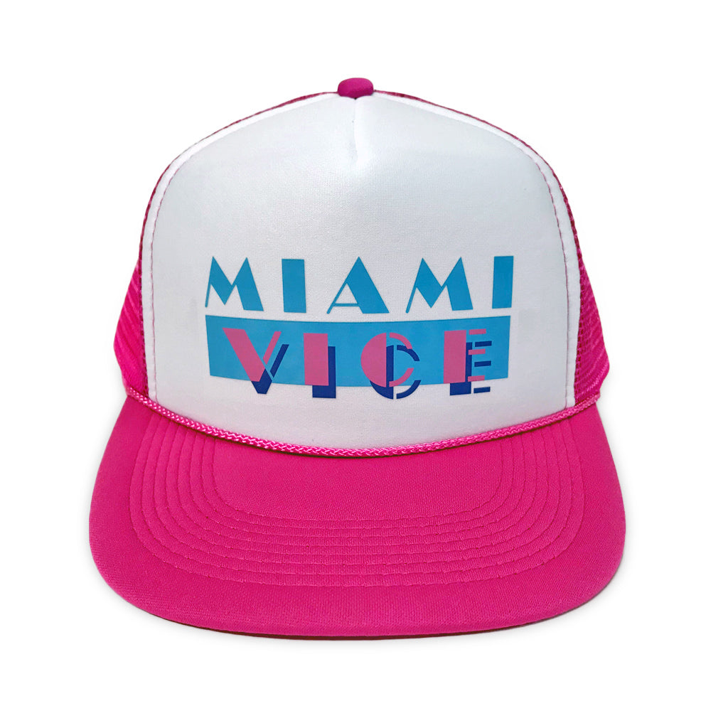 Miami Vice Trucker Hat - Pink