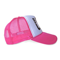 pink boat up trucker hat