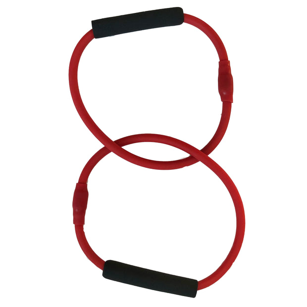 Barre Red Double Tube Exercise Tubing Equipment for Pure Barre Workout