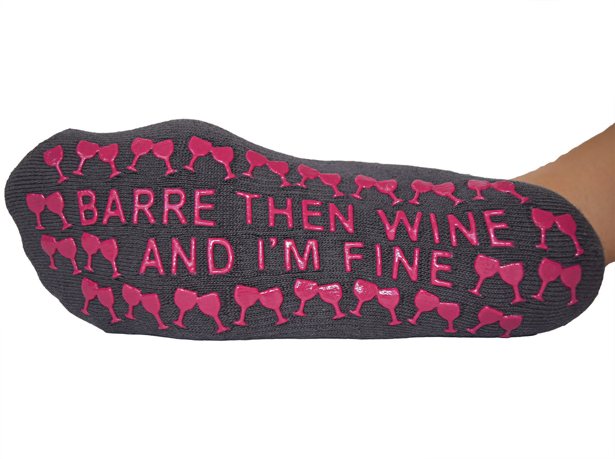 Barre Then Wine And I'm Fine Sticky Socks