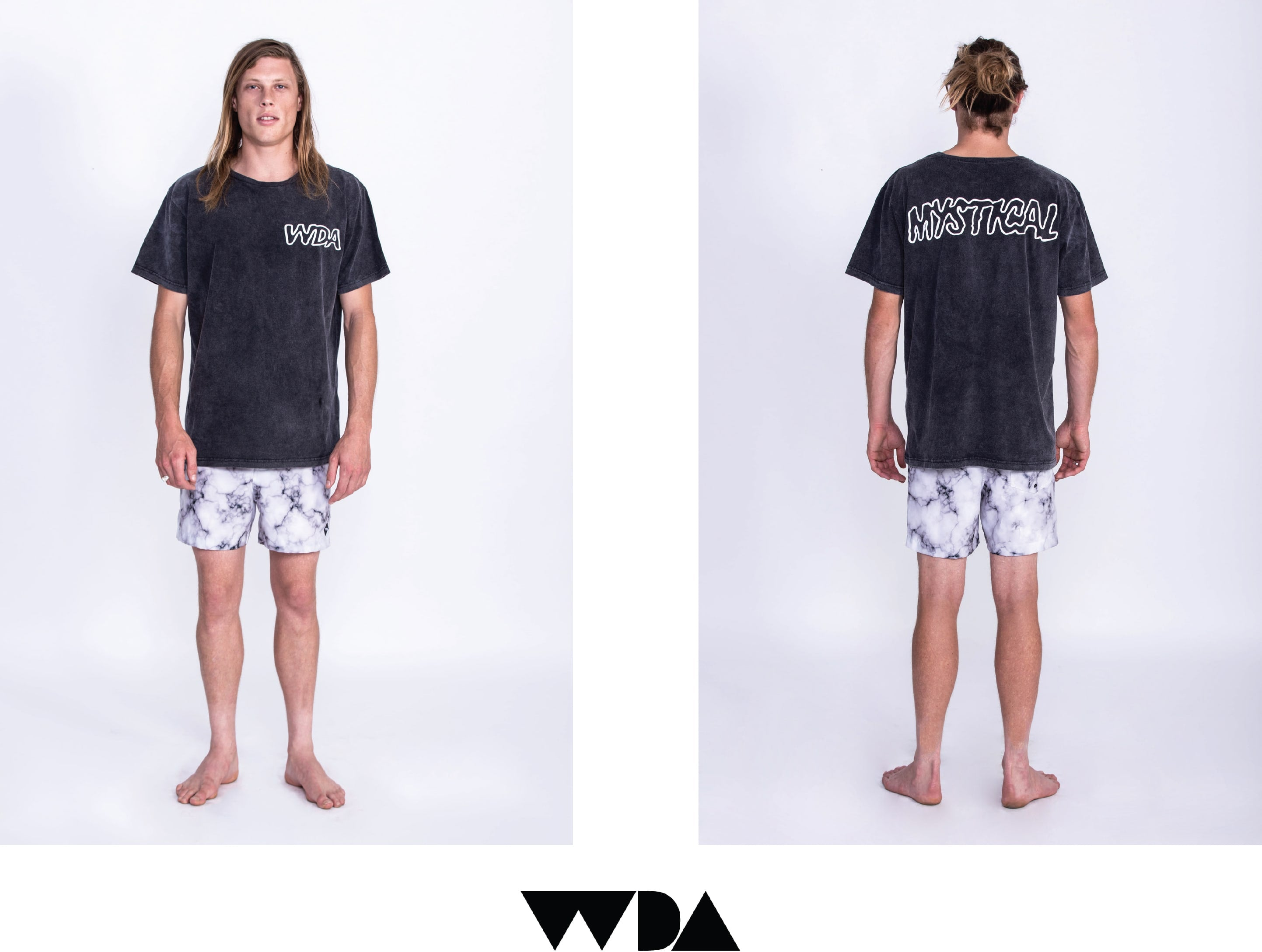 WDA, WE DREAM ALONE, CLOTHING, APPAREL, MENS, TEE, ACID WASH, MYSTICAL, MARBLE, BOARDSHORTS