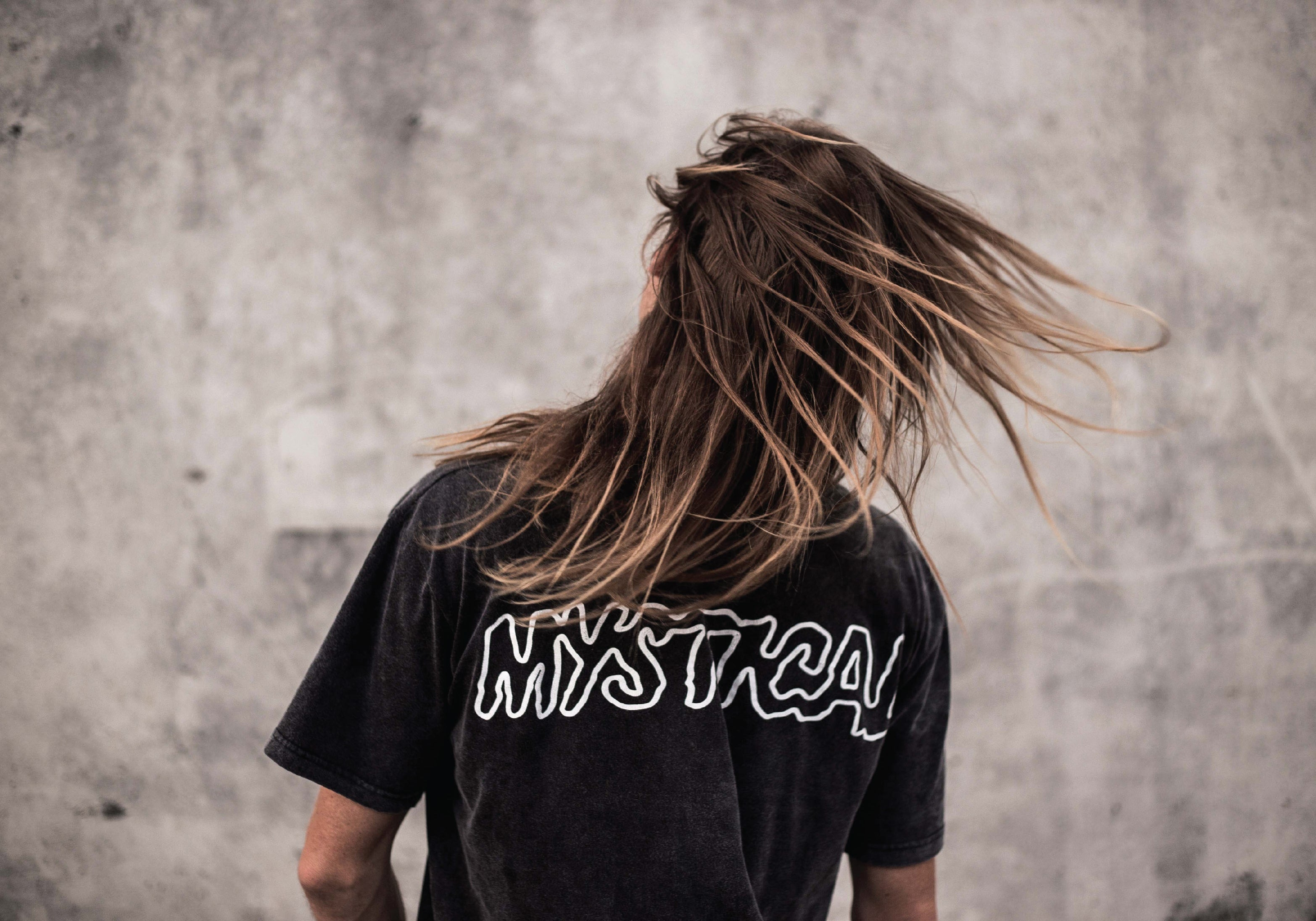 WDA, WE DREAM ALONE, CLOTHING, APPAREL, MENS, TEE, ACID WASH, MYSTICAL, HAIR, SWISH