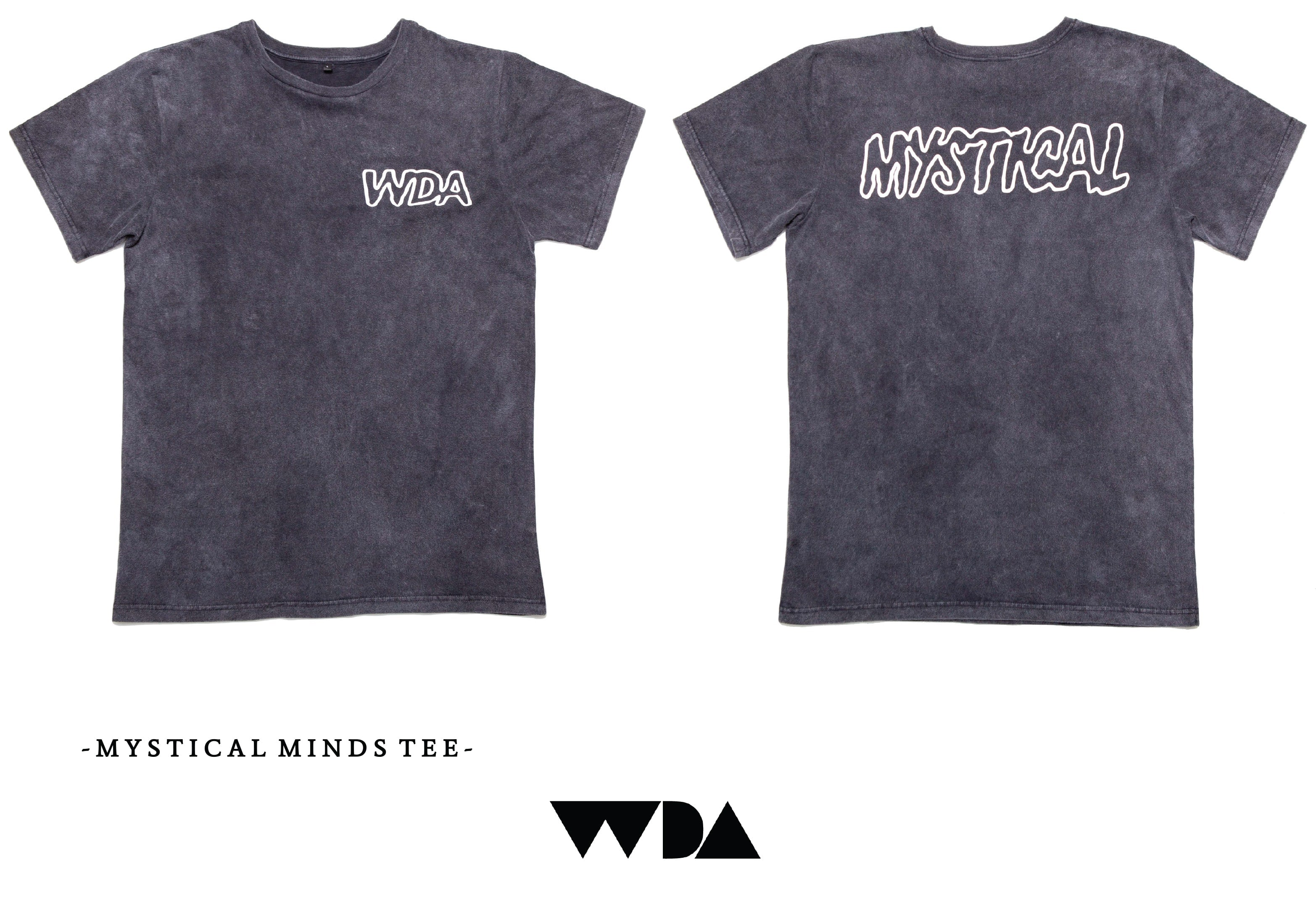 WDA, WE DREAM ALONE, CLOTHING, APPAREL, MENS, TEE, ACID WASH, MYSTICAL