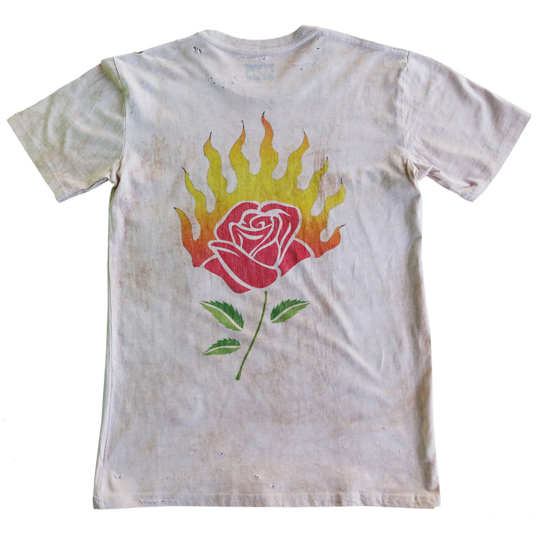 Burning Desire Tee - Bone Vintage