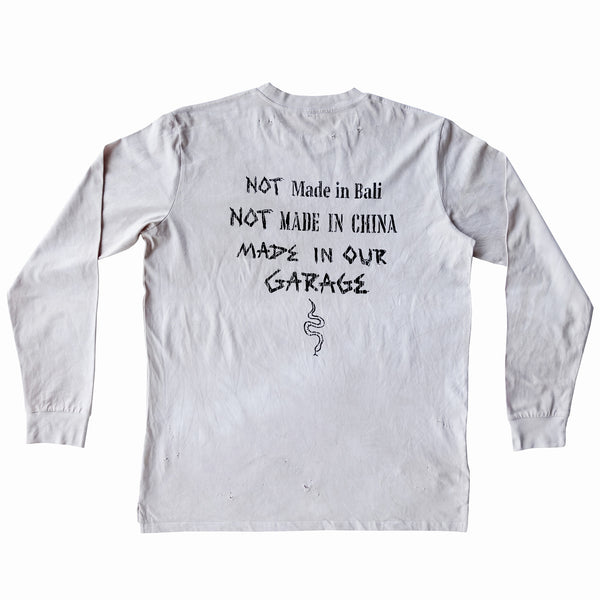 Garage Long Sleeve Tee - Bone Vintage