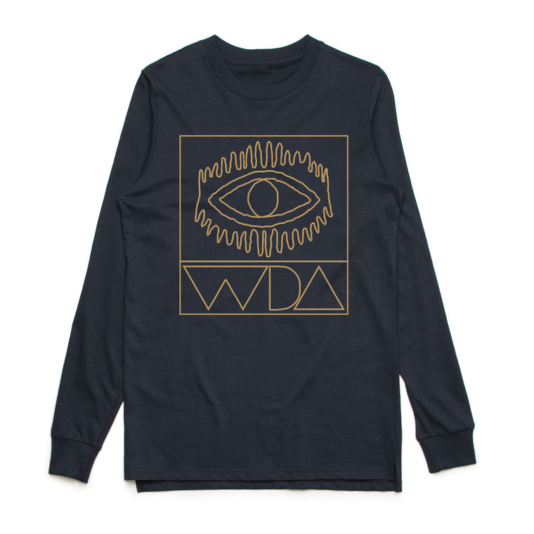 Mates Rates Long Sleeve - Navy (only 1x medium left)