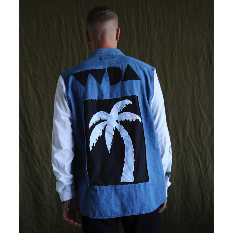 Fourth Dimension Denim Jacket (Size Large)