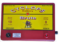 Cyclops Brute Battery Fence Energizer - 8 joule