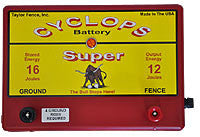 Cyclops Super Battery Fence Energizer - 12 joule
