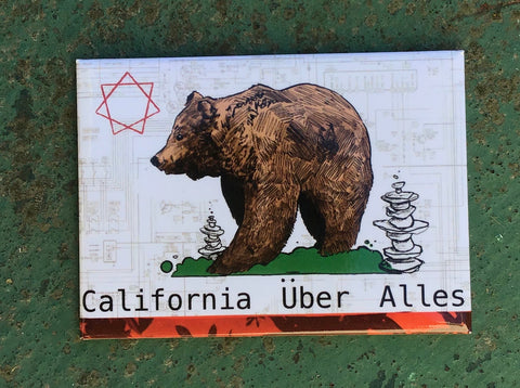 California Uber Alles Fridge Magnet