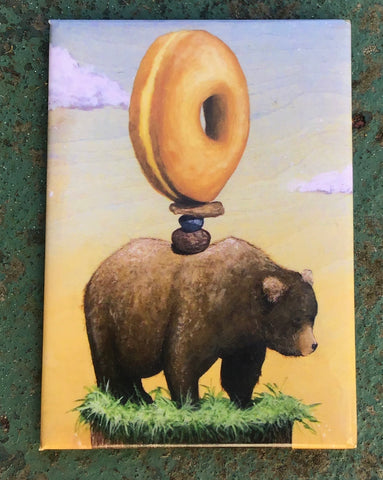Donut Bear Fridge Magnet
