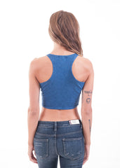 Acid Wash Cropped Tank Top 2