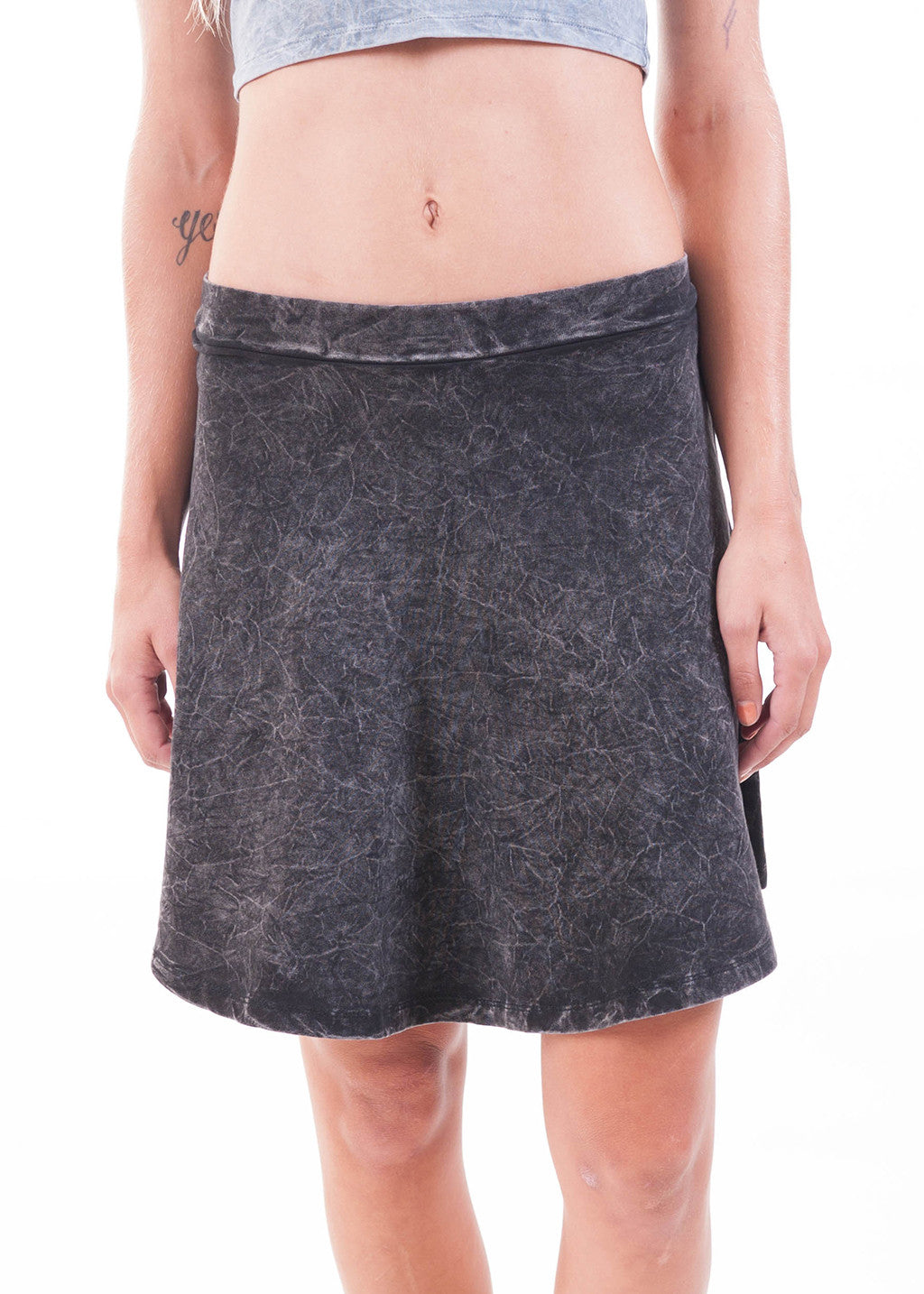Acid Wash Skater Skirt 2