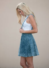 Acid Wash Skater Skirtall Dress 3