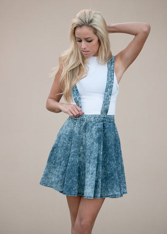 Acid Wash Skater Skirtall Dress