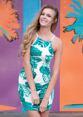 Alocasia Odora Leaf Tank Dress