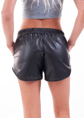 Black Liquid Retro Gym Shorts 3