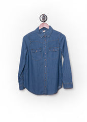Dark Wash Chambray Shirt 2