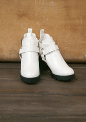Anais White Cut Out Booties 2