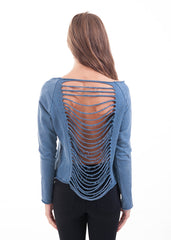 Shredded Back Sweatshirt 2